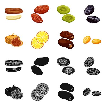 Isolated object of food and raw. Collection of food and nature vector icon for stock. 写真素材 - 129981543