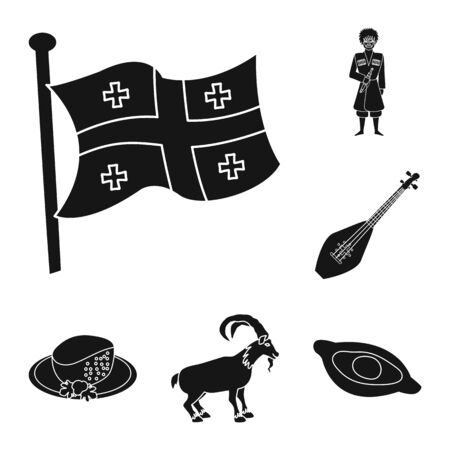 Isolated object of heritage and originality. Collection of heritage and traditions stock symbol for web. Illustration