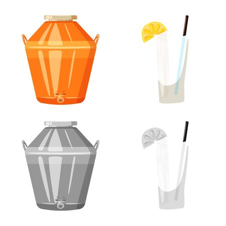 Isolated object of cafe and Latin icon. Set of cafe and national vector icon for stock. Ilustração