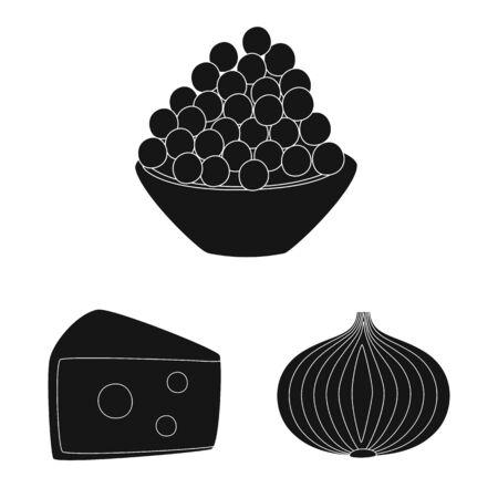 Vector illustration of organic and cooking. Collection of organic and flavors vector icon for stock. Иллюстрация