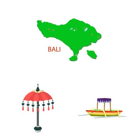 Vector illustration of bali and indonesia icon. Collection of bali and caribbean stock vector illustration. Иллюстрация