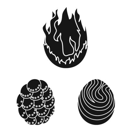 Vector illustration of fantastic and cute sign. Set of fantastic and magic stock vector illustration. Фото со стока - 129980867