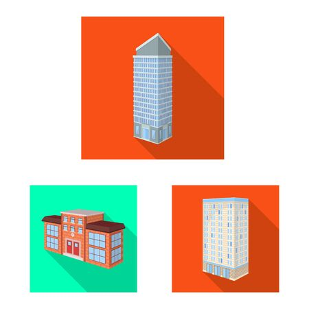 Isolated object of construction and building sign. Collection of construction and estate vector icon for stock.