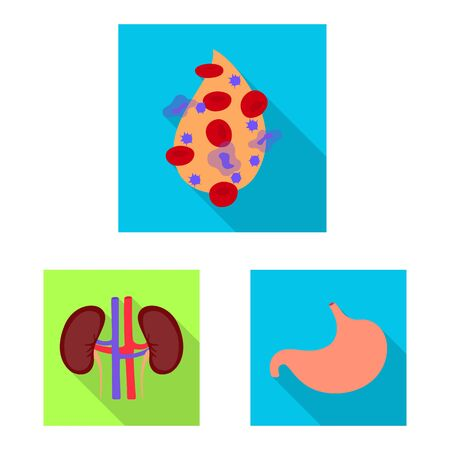 Vector illustration of human and health sign. Set of human and scientific stock symbol for web.