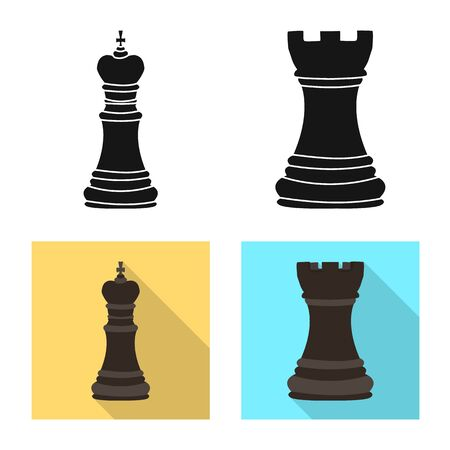 Isolated object of checkmate and thin sign. Set of checkmate and target vector icon for stock. 写真素材 - 129980534