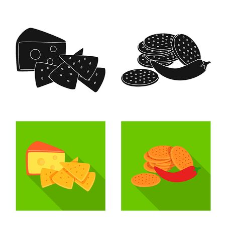 Vector design of taste and seasoning. Set of taste and organic vector icon for stock. Иллюстрация