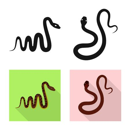 Vector illustration of mammal and danger. Collection of mammal and medicine stock symbol for web.