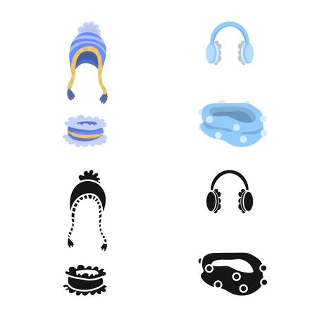 Isolated object of clothes and texture icon. Set of clothes and weather vector icon for stock. 写真素材 - 130071846
