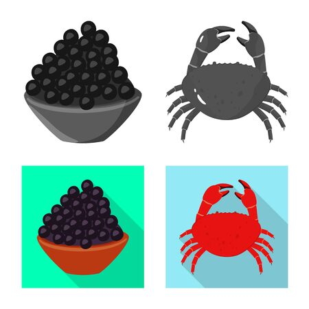Vector illustration of taste and product icon. Collection of taste and cooking vector icon for stock. Ilustrace