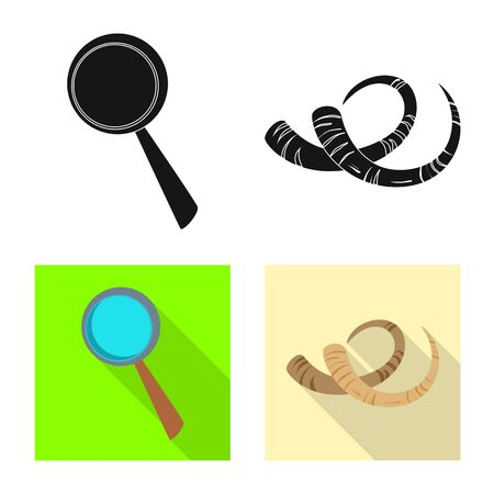 Vector illustration of story and items. Collection of story and attributes stock vector illustration. 向量圖像