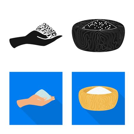 Vector design of cooking and sea sign. Collection of cooking and baking stock vector illustration. Ilustração