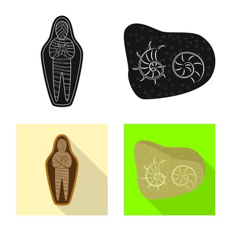 Vector illustration of story and items icon. Set of story and attributes stock vector illustration.