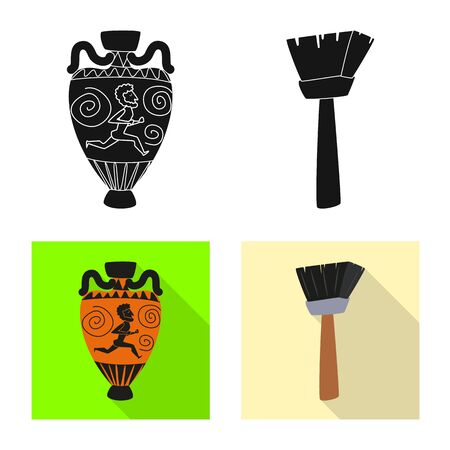 Vector illustration of story and items icon. Collection of story and attributes stock symbol for web.