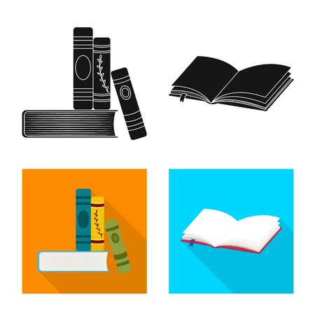 Isolated object of training and cover symbol. Set of training and bookstore stock vector illustration. Stock Illustratie