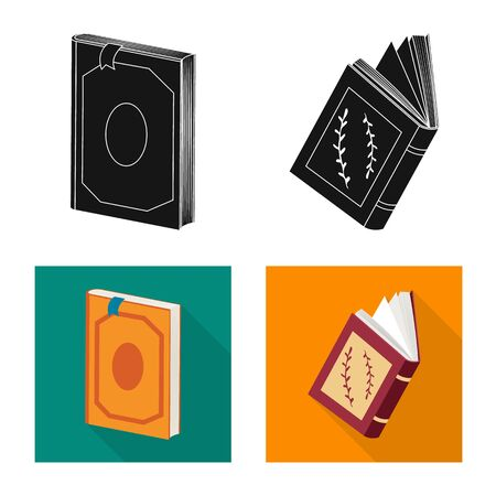Vector design of training and cover. Collection of training and bookstore vector icon for stock.