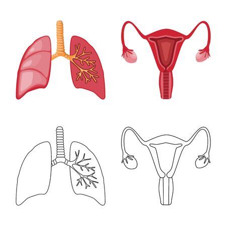 Vector design of biology and scientific. Set of biology and laboratory stock symbol for web. Ilustração