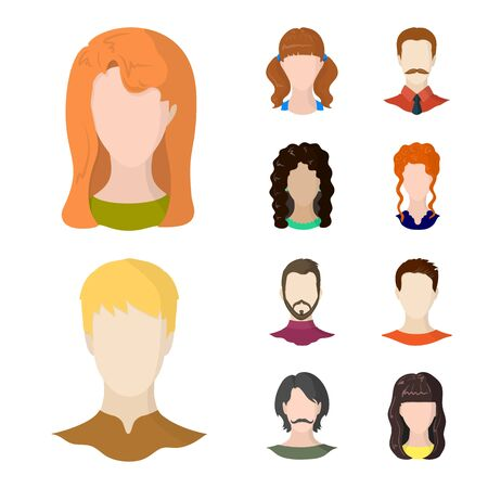 Isolated object of avatar and dummy icon. Collection of avatar and figure stock vector illustration.