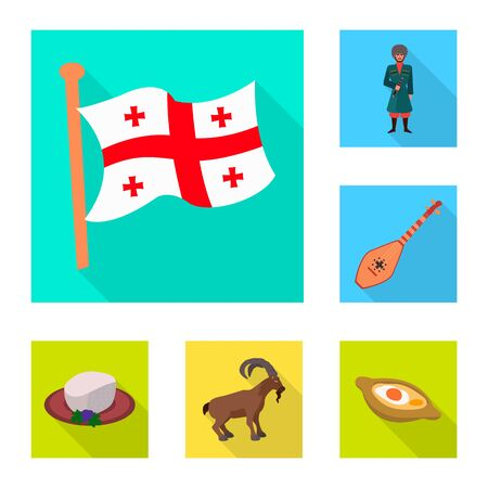 Isolated object of culture and sightseeing symbol. Collection of culture and originality vector icon for stock. Ilustrace