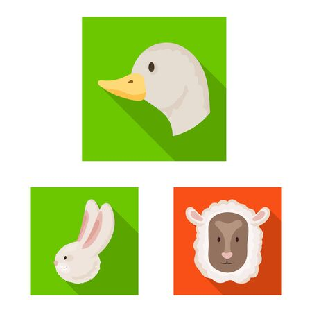 Vector illustration of agriculture and breeding symbol. Set of agriculture and organic stock symbol for web.
