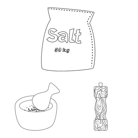 Vector design of sodium and mineral logo. Collection of sodium and kitchen vector icon for stock.