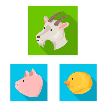 Vector design of agriculture and breeding icon. Collection of agriculture and organic stock vector illustration. Illustration