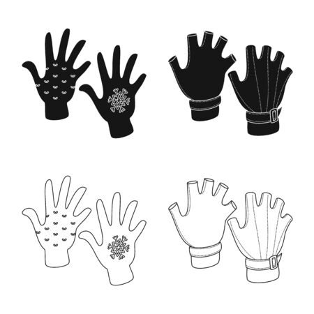 Vector illustration of silhouette and safety symbol. Set of silhouette and comfort stock symbol for web.