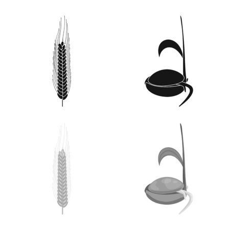 Vector design of agriculture and farming icon. Set of agriculture and plant vector icon for stock. Ilustração