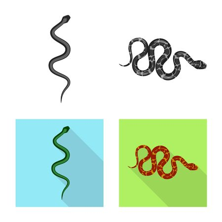 Vector illustration of mammal and danger logo. Collection of mammal and medicine vector icon for stock.