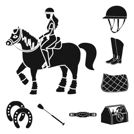 Vector illustration of sport and competition sign. Collection of sport and equestrian stock symbol for web.