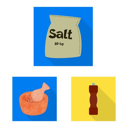 Isolated object of raw and kitchen logo. Collection of raw and sea stock symbol for web.