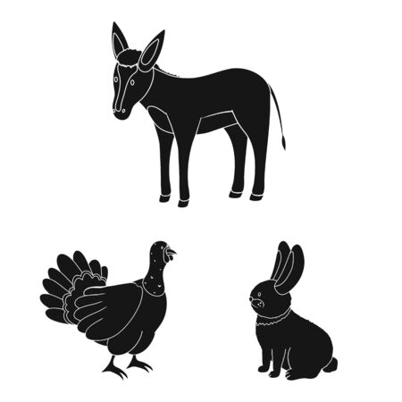Vector design of ranch and organic symbol. Collection of ranch and food stock vector illustration.  イラスト・ベクター素材