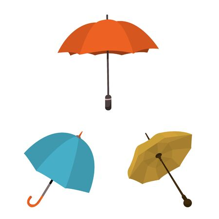 Vector design of umbrella and rain logo. Collection of umbrella and weather stock symbol for web.