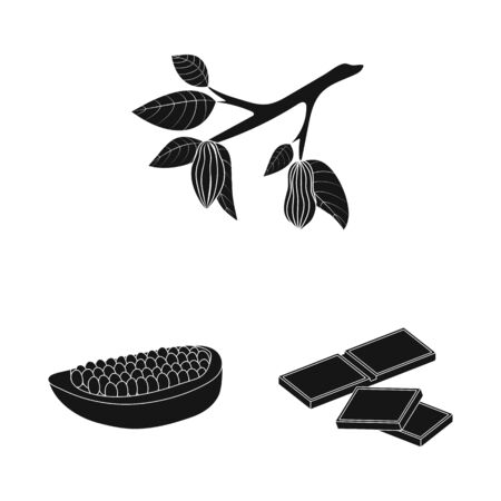 Isolated object of cooking and brown icon. Collection of cooking and beans vector icon for stock.