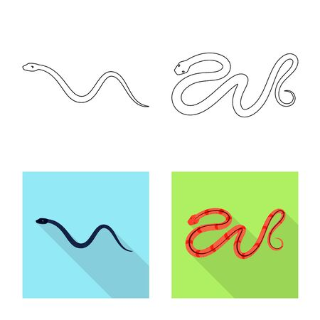 Vector illustration of mammal and danger icon. Set of mammal and medicine stock symbol for web. 일러스트