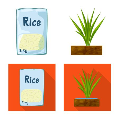 Vector design of crop and ecological icon. Collection of crop and cooking vector icon for stock.
