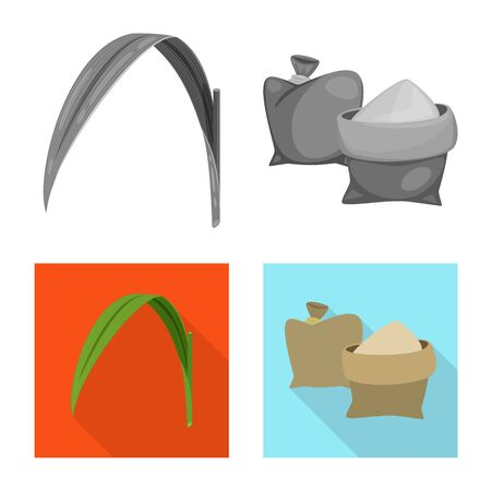 Isolated object of farm and agriculture symbol. Set of farm and technology stock symbol for web. Ilustração