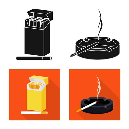 Vector illustration of refuse and stop symbol. Collection of refuse and habit stock symbol for web.