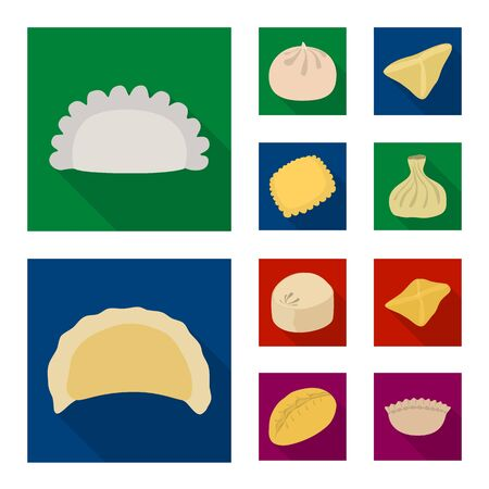 Vector illustration of products and cooking logo. Collection of products and appetizer vector icon for stock. Illustration