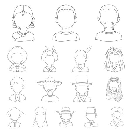 Vector illustration of imitator and resident symbol. Set of imitator and culture vector icon for stock.