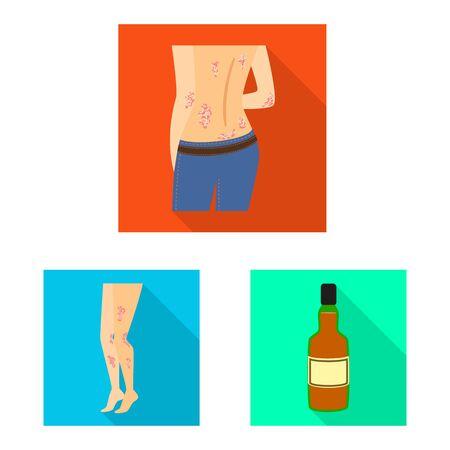 Vector design of dermatology and disease logo. Set of dermatology and medical stock vector illustration.