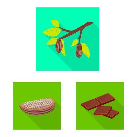 Vector illustration of treat and product logo. Collection of treat and yummy stock vector illustration. Foto de archivo - 130515262
