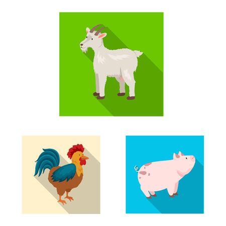 Vector design of breeding and kitchen symbol. Collection of breeding and organic stock symbol for web. Illustration