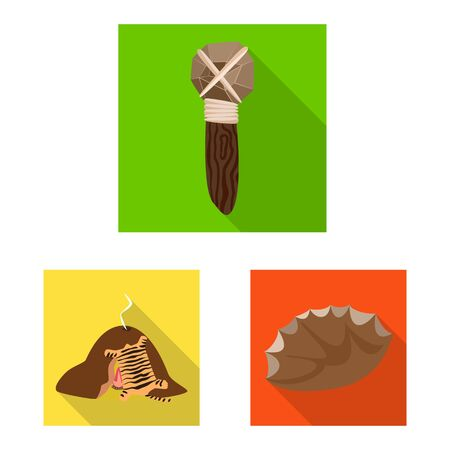 Vector illustration of evolution and prehistory logo. Collection of evolution and development vector icon for stock.