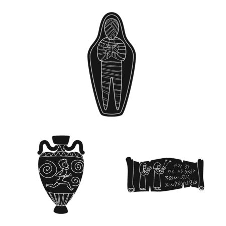 Isolated object of museum and attributes icon. Collection of museum and historical vector icon for stock.