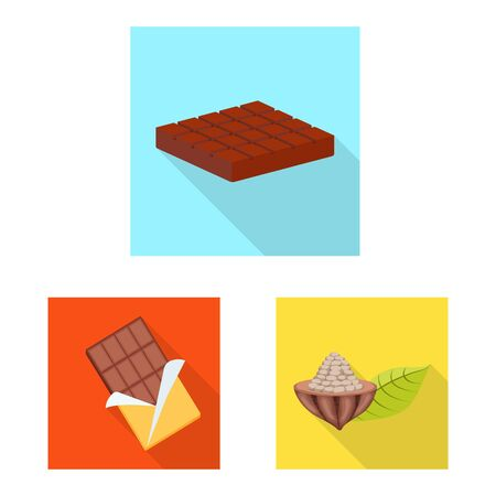 Vector design of treat and product symbol. Set of treat and yummy vector icon for stock.