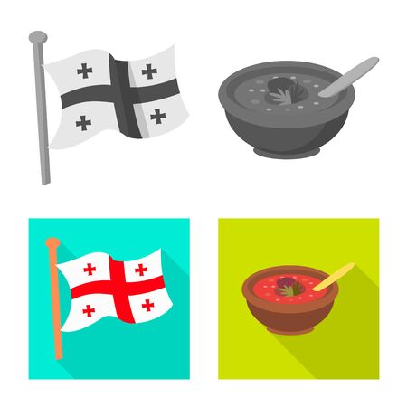 Isolated object of culture and sightseeing icon. Collection of culture and originality stock vector illustration.