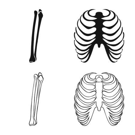 Vector design of medicine and clinic logo. Set of medicine and medical stock vector illustration.