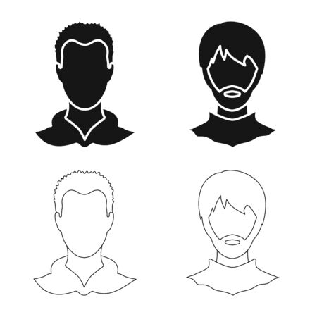 Isolated object of professional and photo icon. Collection of professional and profile vector icon for stock.