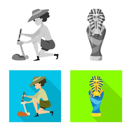 Isolated object of story and items icon. Collection of story and attributes vector icon for stock. Иллюстрация