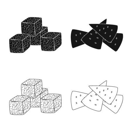 Vector design of Oktoberfest and bar logo. Collection of Oktoberfest and cooking vector icon for stock. Çizim